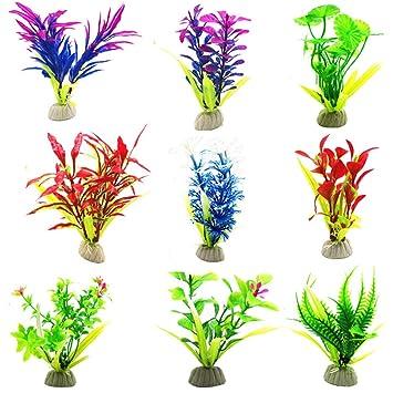Godagoda Unechte Blumen Bunt Kunstliche Simulation Aquarium Gras