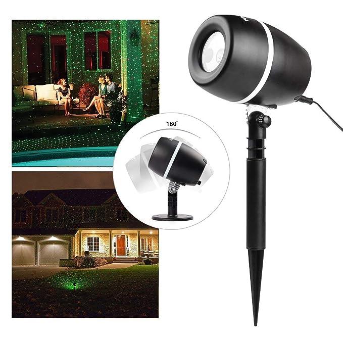Mini proyector de luces para navidad para interiores y exteriores, resistente al agua.