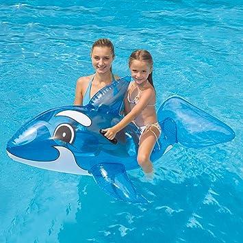 Flotador en graciosa forma de ballena 160 cm: Amazon.es: Juguetes y juegos