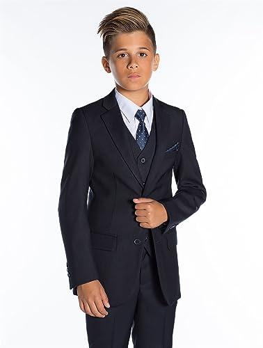 Paisley of London, Marina de guerra de muchachos traje, Niño corte ajustado traje, Graduación trajes, 12-18 meses - 13 años