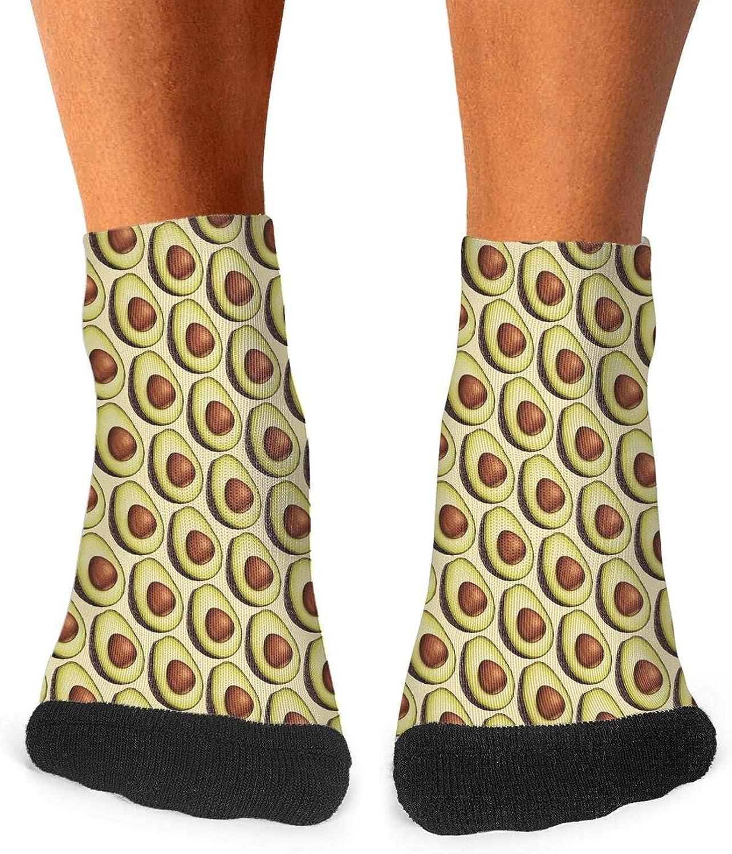 Floowyerion Mens vintage Avocado pattern Novelty Sports Socks Crazy Funny Crew Tube Socks