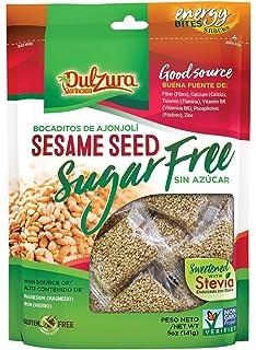 Ajonjoli Sesame Seed Bars, Sugar Free (Sin Azucar), sweetened with Stevia,