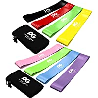 Skin-Friendly Non Latex Resistance Loop Bands Set of 4 - Best Home Gym Fitness Exercise Bands for Legs, Glutes, Crossfit Workout, Physical Therapy Pilates Yoga & Rehab - Mobility & Strength Training