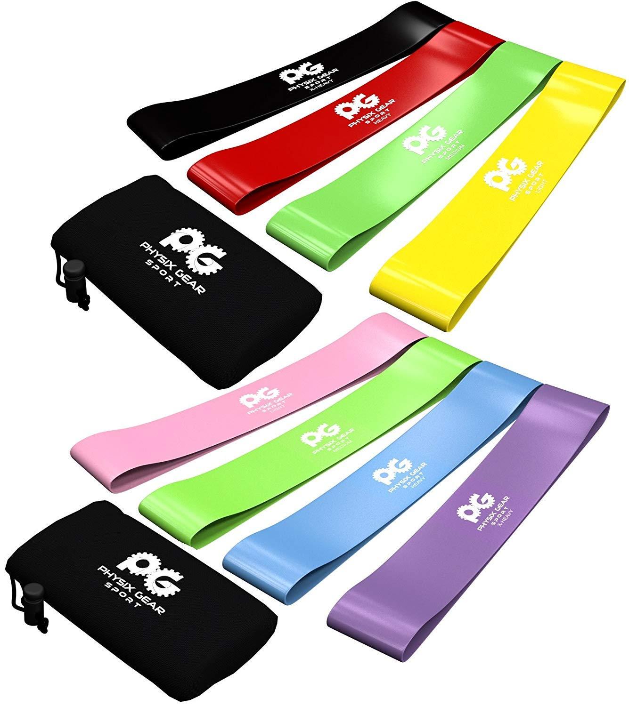 予約販売 Physix Gear Sport of Sport 抵抗ループバンドは、脚 4)、クロスフィットトレーニング、理学療法、ピラティス、ヨガ&リハビリ機動性と強度を向上させるために4つの家庭用フィットネスエクササイズバンドを設定します B0175GY82W Pink-Blue-Purple-Green (Set of 4) Pink-Blue-Purple-Green (Set of 4), オートファイルオンライン:3adf436f --- arianechie.dominiotemporario.com