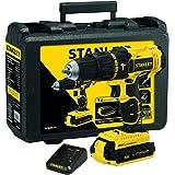 STANLEY Parafusadeira e Furadeira de Impacto de 1/2 Pol. (13mm) com 2 Baterias 20V Ion-Litio 1.3Ah 1.500 RPM Maleta e Carrega