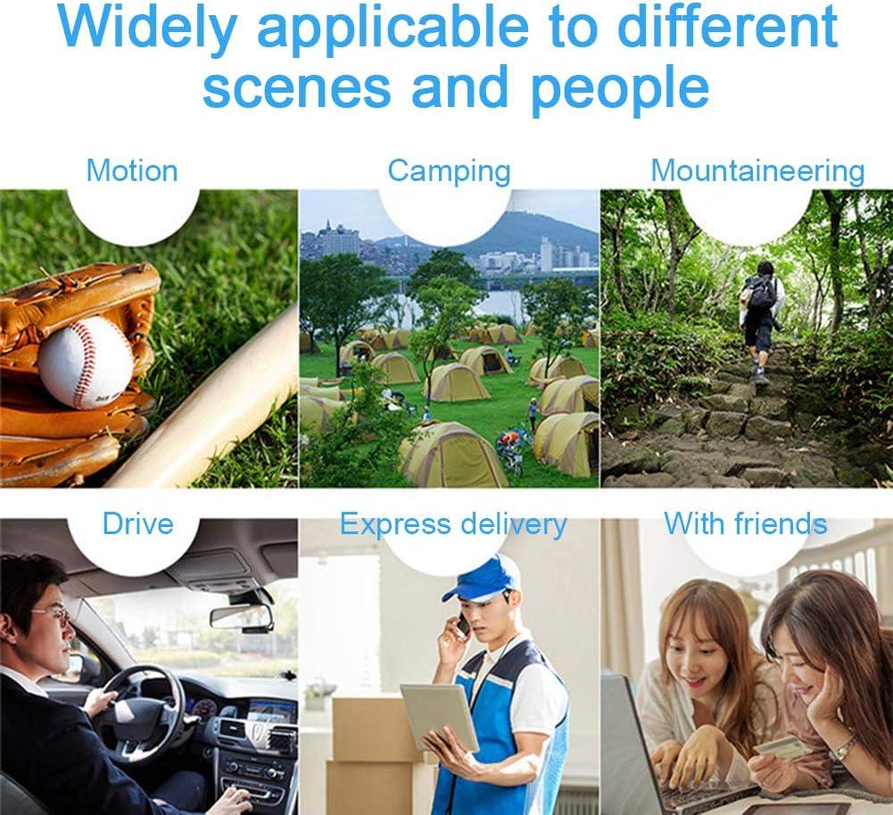 USB Rechargeable Portable Handheld Mini LED Fan Headphone Design Neckband Fan Internal Rainbow HUOXU Hand Free Personal Fan