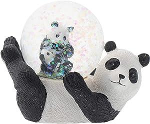 Elanze Designs Panda Bear Mommy and Cub Figurine 45MM Glitter Water Globe Decoration