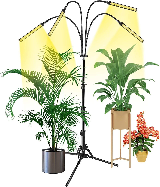 Plant Grow Light Floor LED Grow Light with Stand Full Spectrum LEDs Plant Light