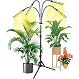 Grow Light with Stand, Slaouwo LED Floor Grow Lights for Indoor Plants, Smart Full Spectrum Grow Lamp with Timer for Seedling