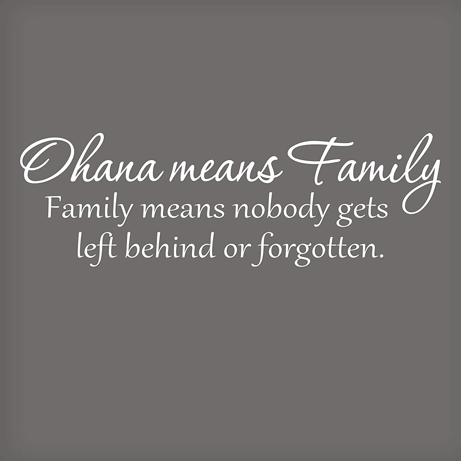 Ohana Means Family Wall Decal | Lilo and Stitch Wall Quotes | Disney Quotes Wall Decor | Kids Wall Decor | Bedroom Decor | 22x6-White