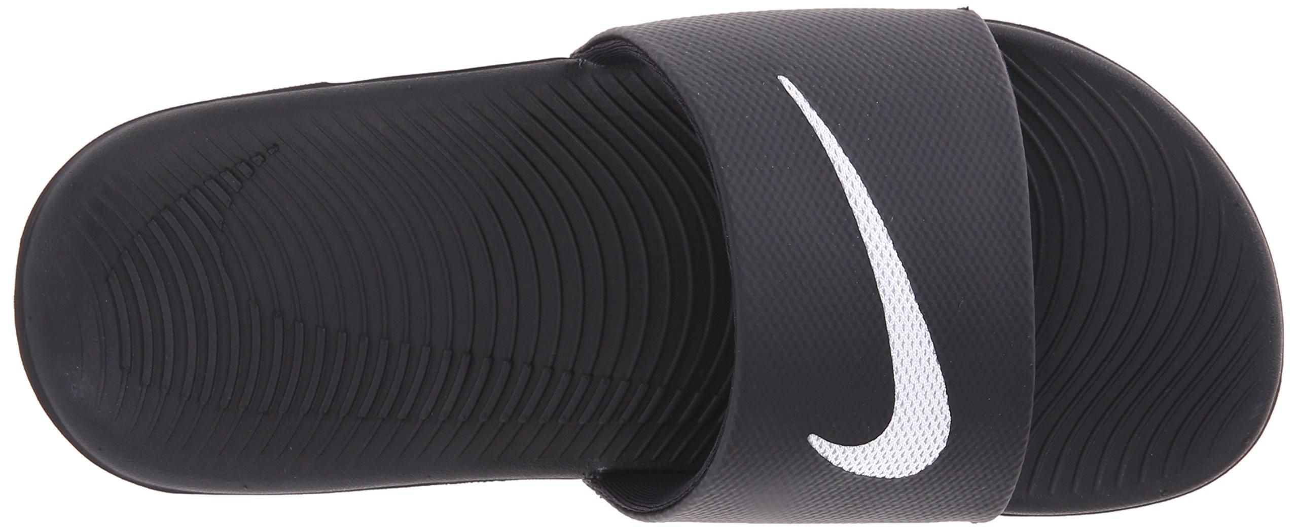 NIKE Kids' Kawa Slide Sandal, Black/White, 4 M US Big Kid by Nike (Image #8)