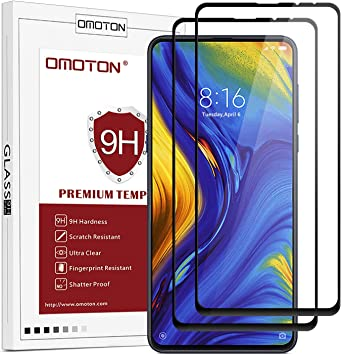 OMOTON Protector Pantalla para Xiaomi Mi Mix 3, Cristal Templado ...
