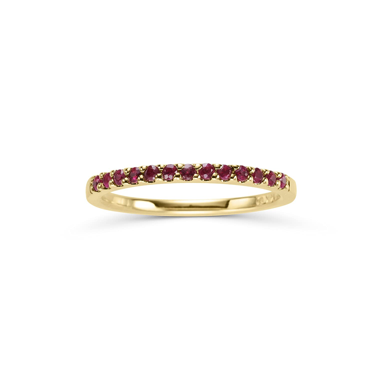 Amazon 14k White Gold Genuine Ruby Stackable 2mm Wedding Anniversary Band Ring July Birthstone Jewelry: Ruby Wedding Anniversary Bands At Reisefeber.org
