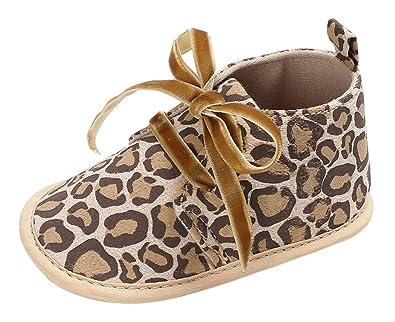 Chaussures Gemvie Unisexe Bébé Bottillons Premiers Pas Glisser Semelles 13cm Doux Debout Léopard Brun Longuitud w98xQh