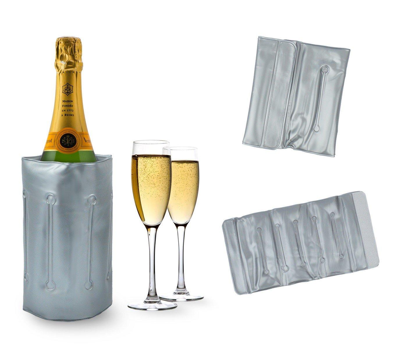 704641 Bolsa refrigerante para botellas, portátil, y para cubo de hielo. Media Wave Store portátil