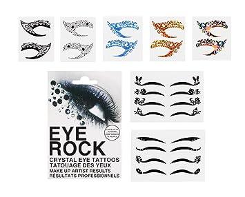 Amazon.com : Bundle Monster 8pc Fashionable Fun Temporary Eye Tattoo ...