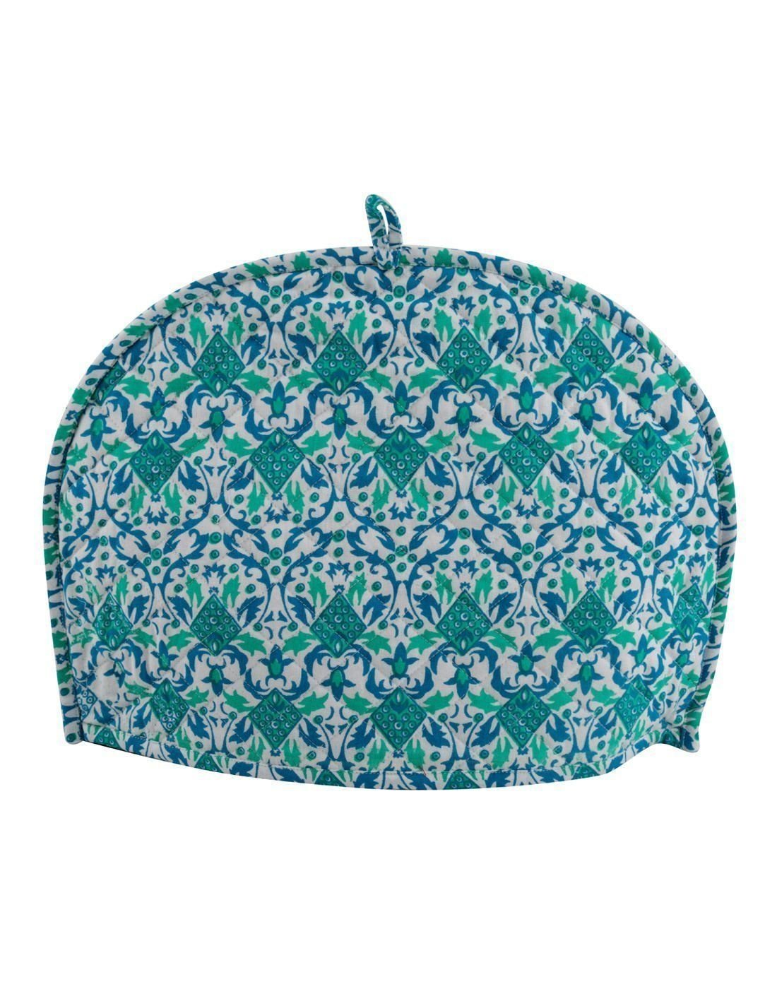Home Decorative Cotton Creative Tea Cosy Indian Mandala Tea Cozies Tea Pot Cover Dark Blue Print Tea Cozy (Green Ombre)
