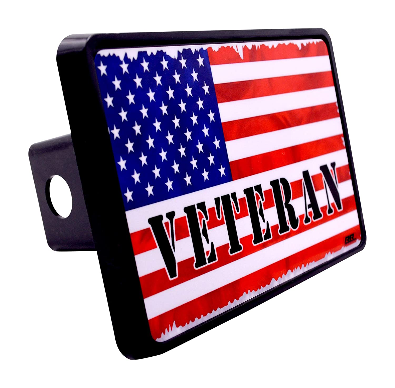 Rogue River Tactical USA American Flag Military Veteran Trailer Hitch Cover Plug US Patriotic USA Old Glory
