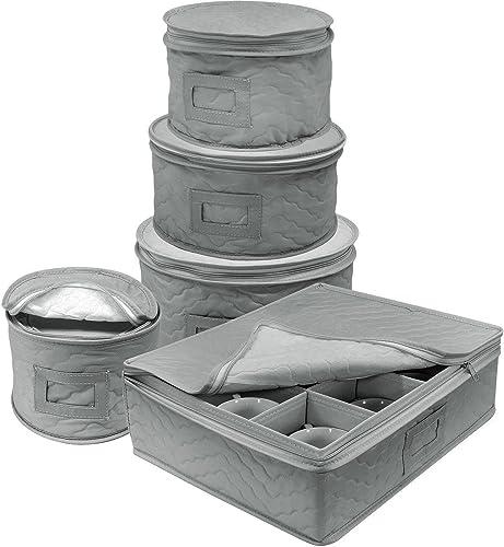 Sorbus Dinnerware Storage 5-Piece Set Round