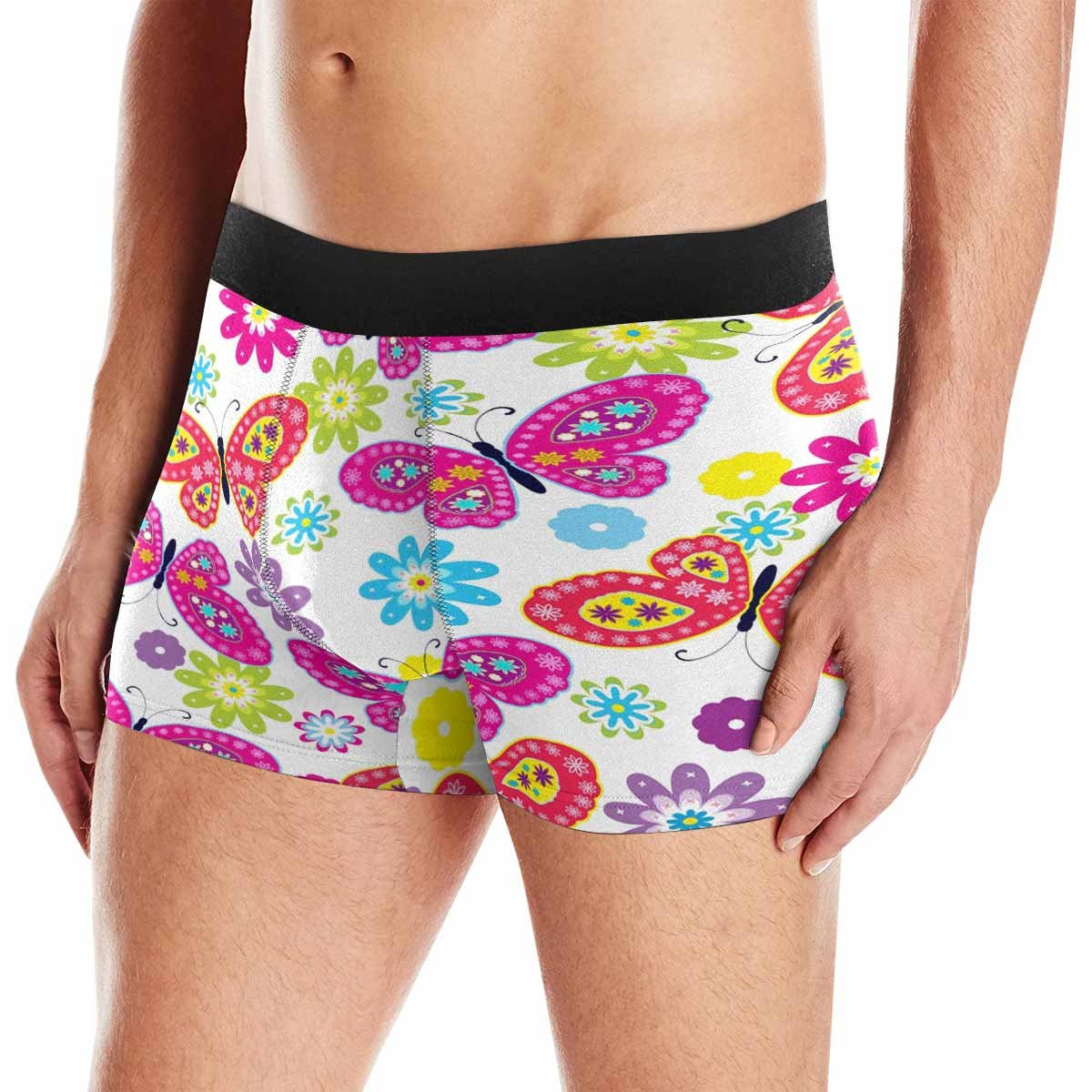 XS-3XL INTERESTPRINT Custom Mens Boxer Briefs Butterfly /& Flower