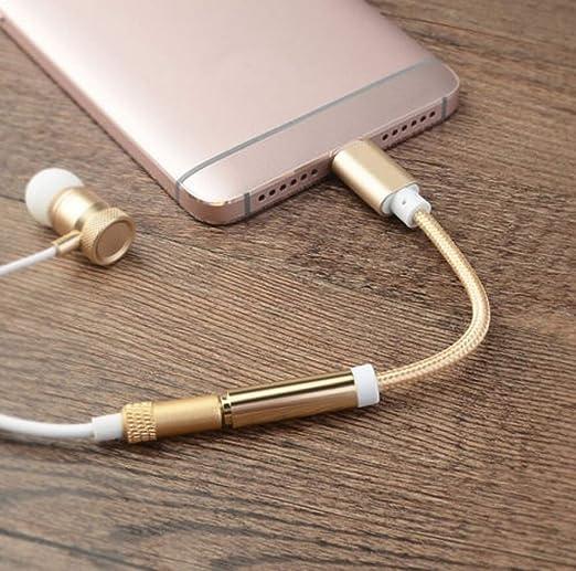 Amazon.com: Adaptador USB C a conector de auriculares de ...