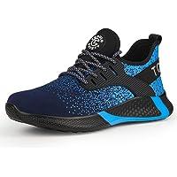 AONETIGER Zapatillas Seguridad Hombre Mujer Botas de Seguridad para Hombre S3 Zapatos Trabajo con Punta de Acero Ligero