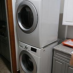 Amazon.com: Mekar 29 Inch Laundry Stacking Kit Chrome Steel ...