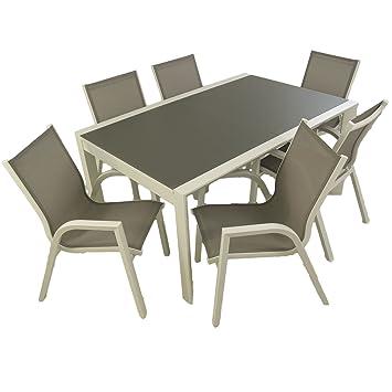 Conjunto muebles exterior | Mesa extensible 160/210 | Sillones ...