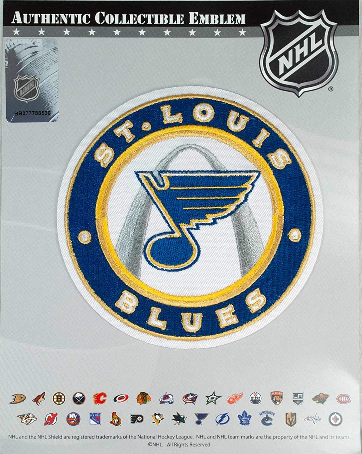 National Emblem St Louis Blues Primary Logo Collectors Patch