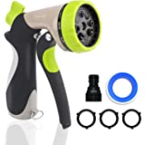 YOKJOY Garden Hose Nozzle Heavy Duty Metal Water Spray Nozzle, 8 Adjustable Watering Patterns Hose nozzl, Suitable for Garden Watering, Pet bathing, Car washing, Floor washing [2018 Upgrade Version]