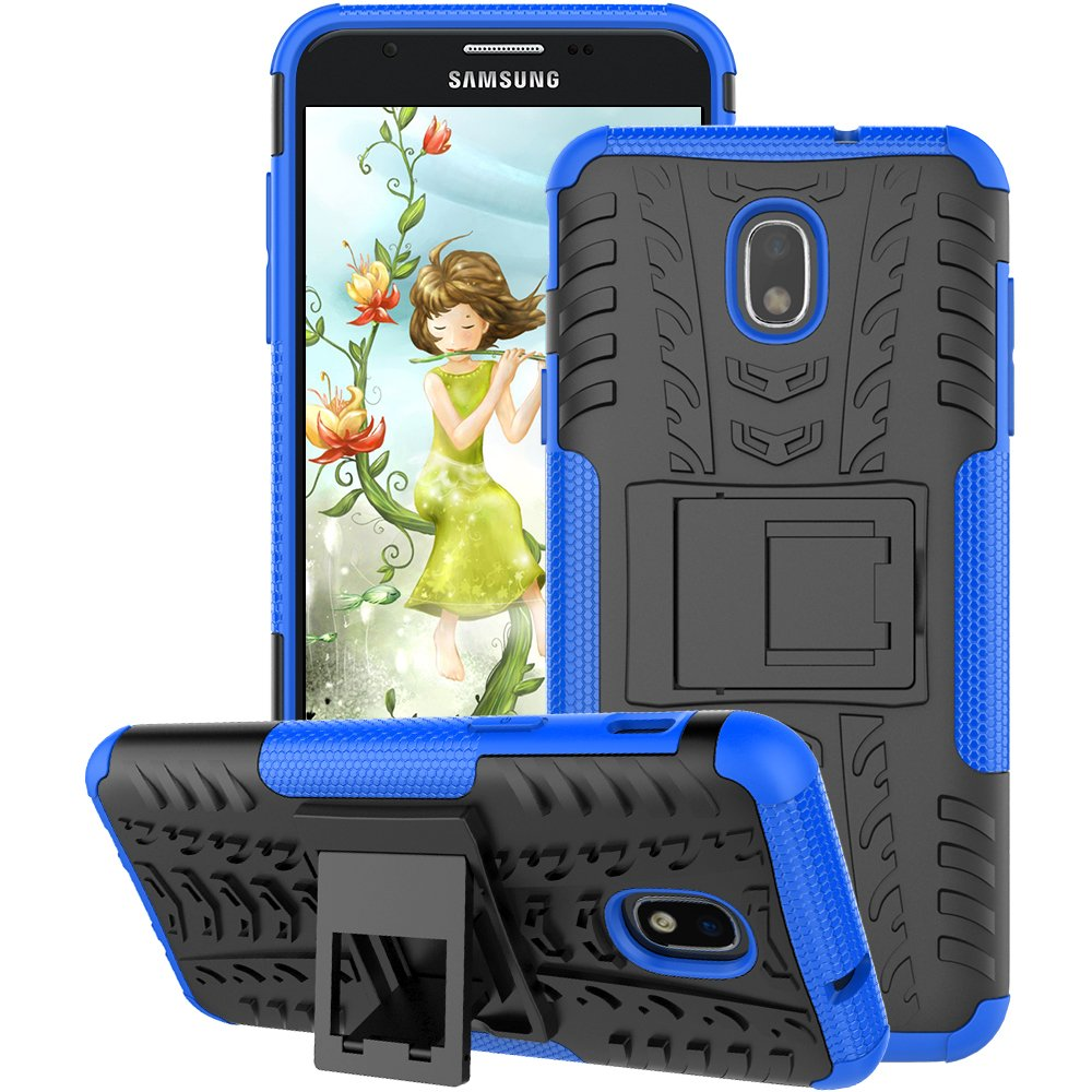 Samsung Galaxy J7 Case 2018, Galaxy J7 Refine Case, Galaxy J7V / J7 V Case 2018 (2nd Gen), Galaxy J7 Star Case, J7 Top, J7 Aura, J7 Aero, J7 Crown, J7 Eon, GSDCB Phone Case with Kickstand (Blue)