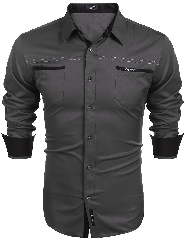 TALLA S. Coofandy - Camisa Casual - para Hombre
