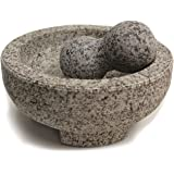 "Maxam 8"" Granite Molcajete Mortar and Pestle …"