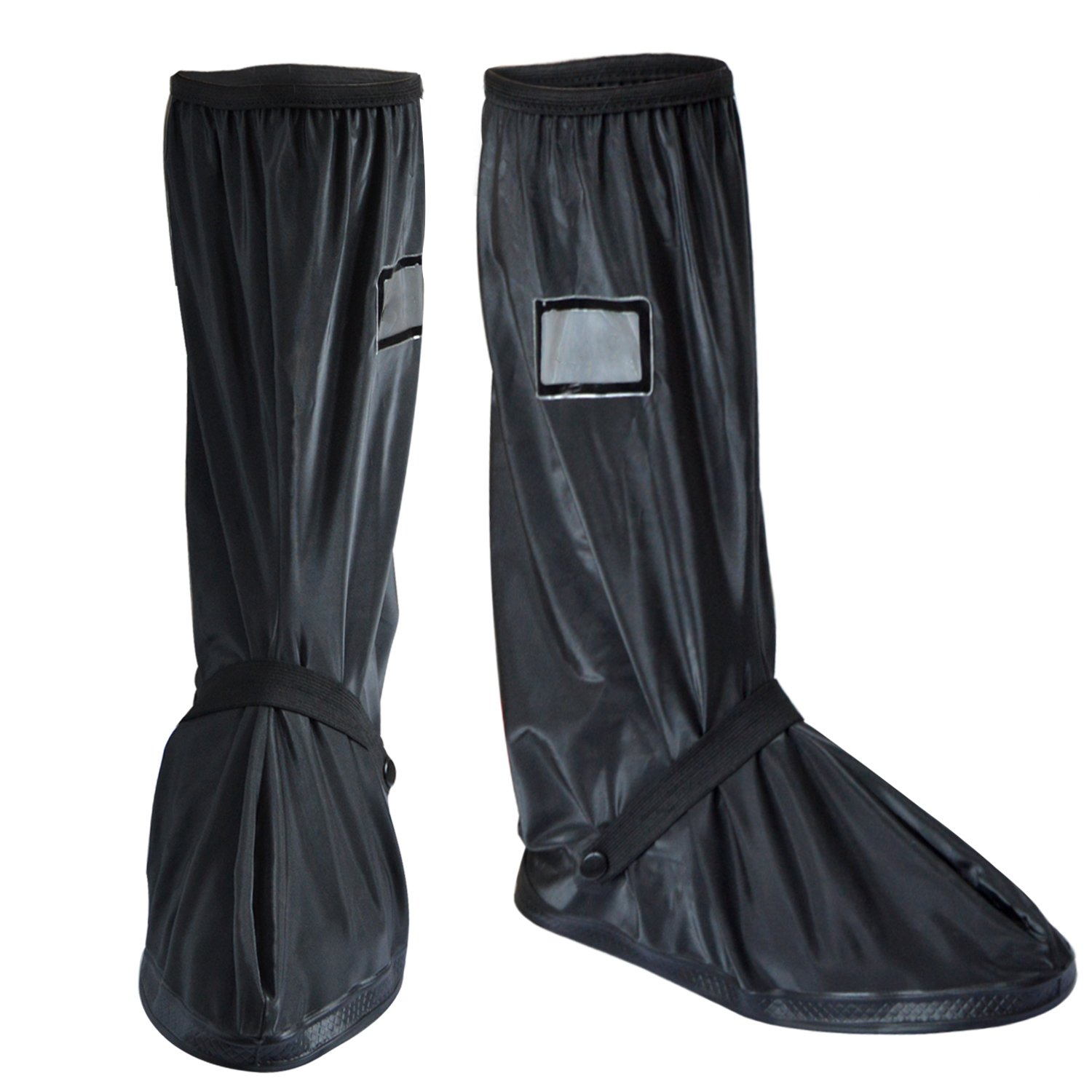 Waterproof Boot Cover, CarBoss Gear Rain Boot Shoe Cover with Side Zipper (Euro 44-45/ US 10-11) - Overshoes Cover for Outdoor Riding Motorbike Dirt Road Bike Motorcycle Cycling Biker