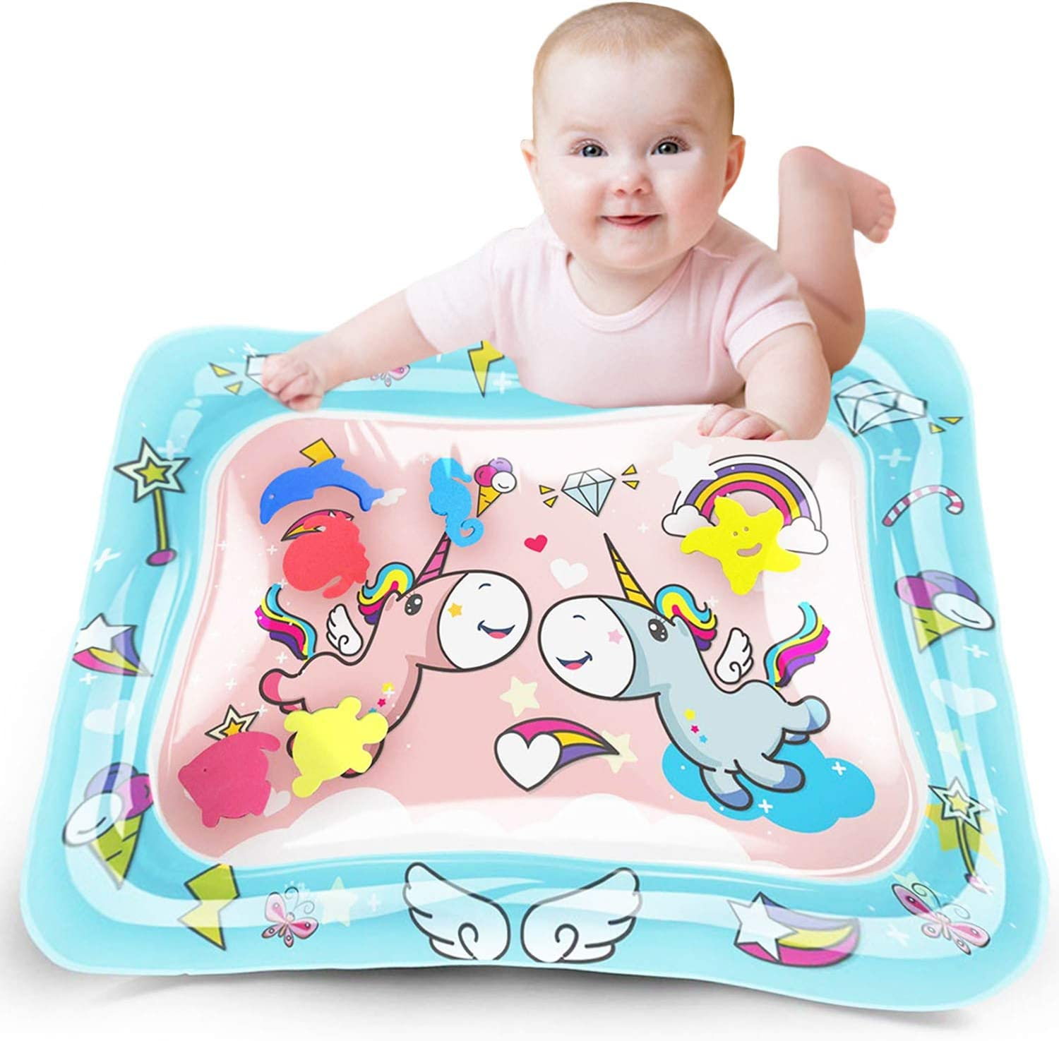 Baby Water Pad Tummy Time Water Mat Inflatable Play Mat Sensory Toys for Baby Early Development Toys