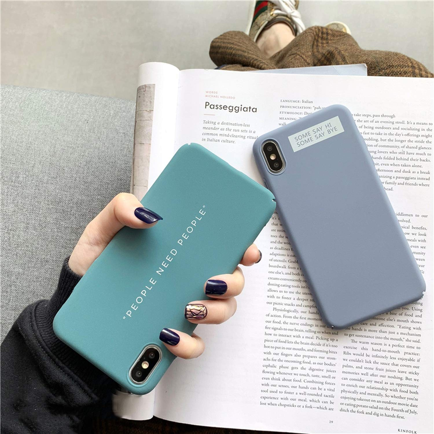 Amazon.com: Ins Simple Words Print Phone Case for iPhone Xs ...