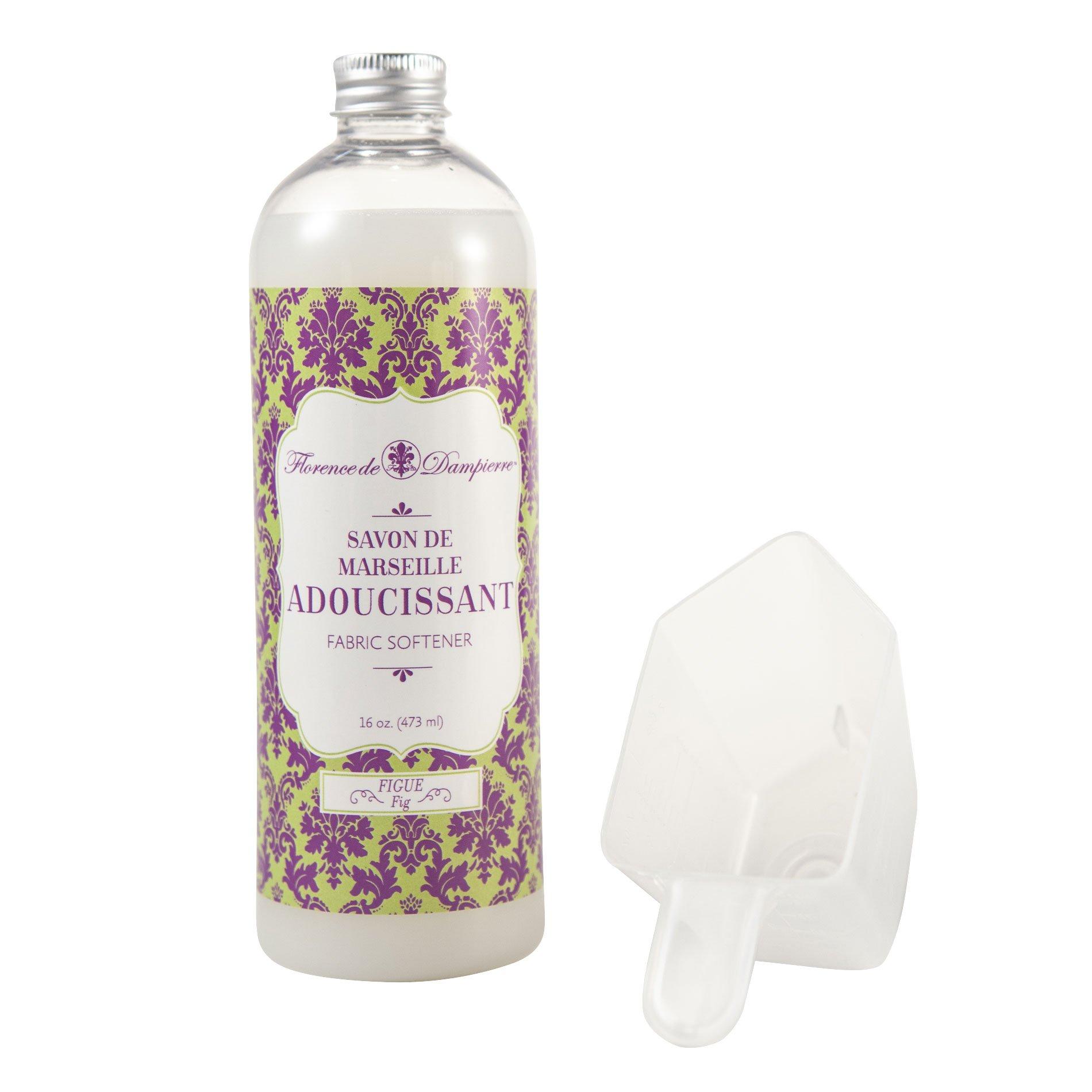 Florence de Dampierre All-Natural Savon de Marseille Soap, Concentrated Liquid Fabric Softener, 16 oz. - Fig