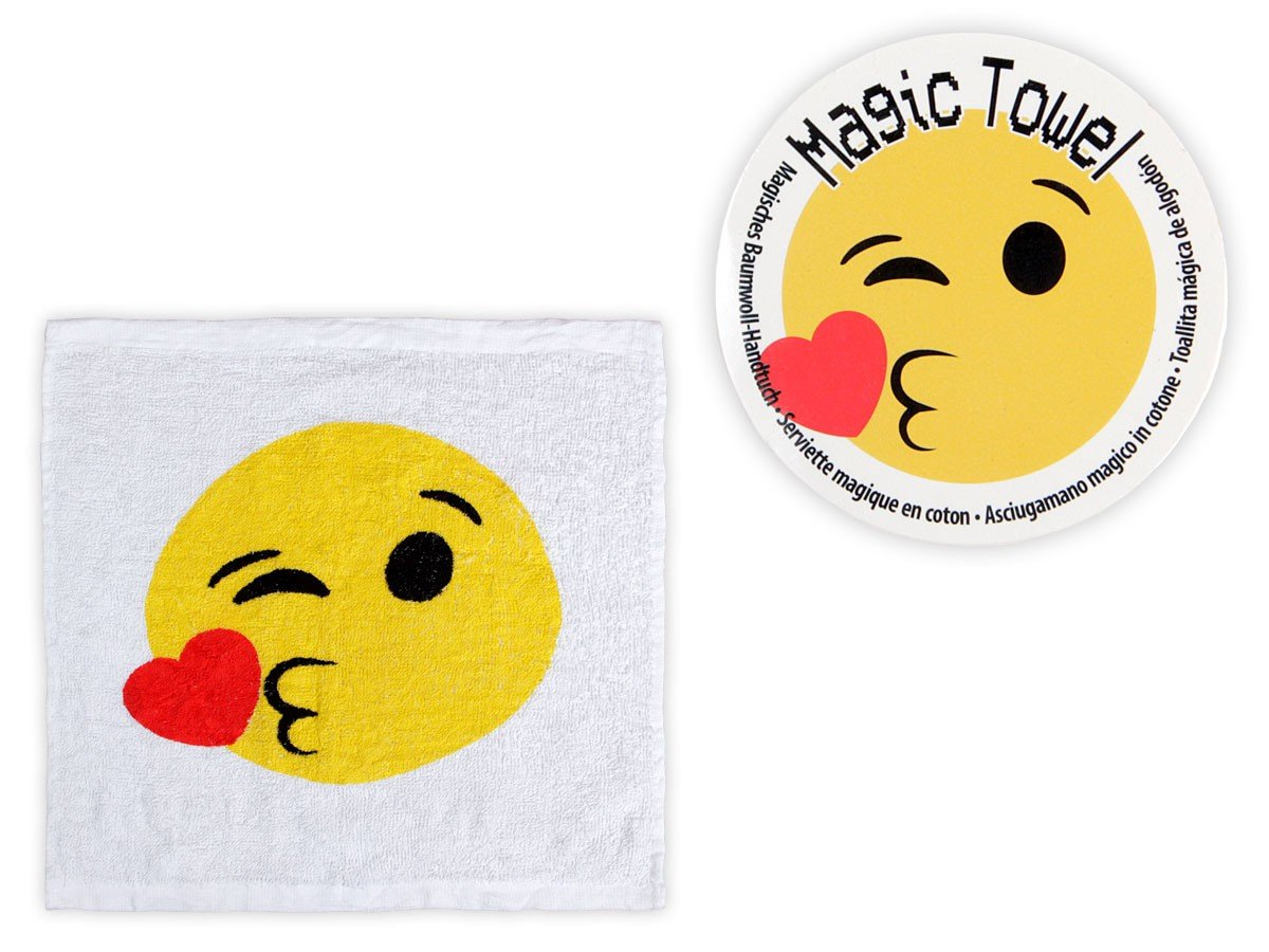 Amazon.com: EMOJI - Magic Towel, Set of 3 - Just Add Warm Water!!: Toys & Games