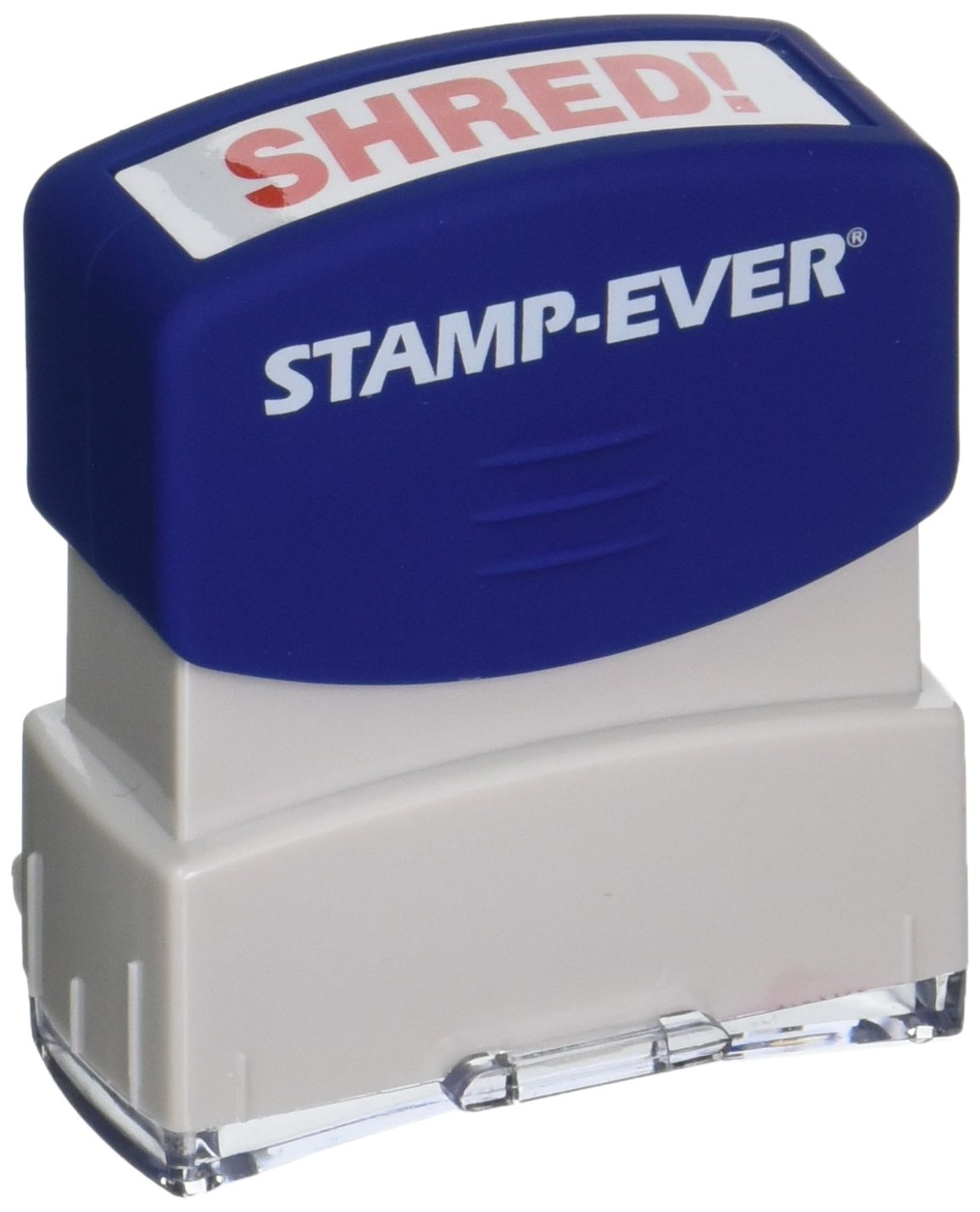 Amazon Stamp Ever Pre Inked Message Shred Impression Size 9 16 X 1 11 Inches Red 5966 Business Stamps Office Products