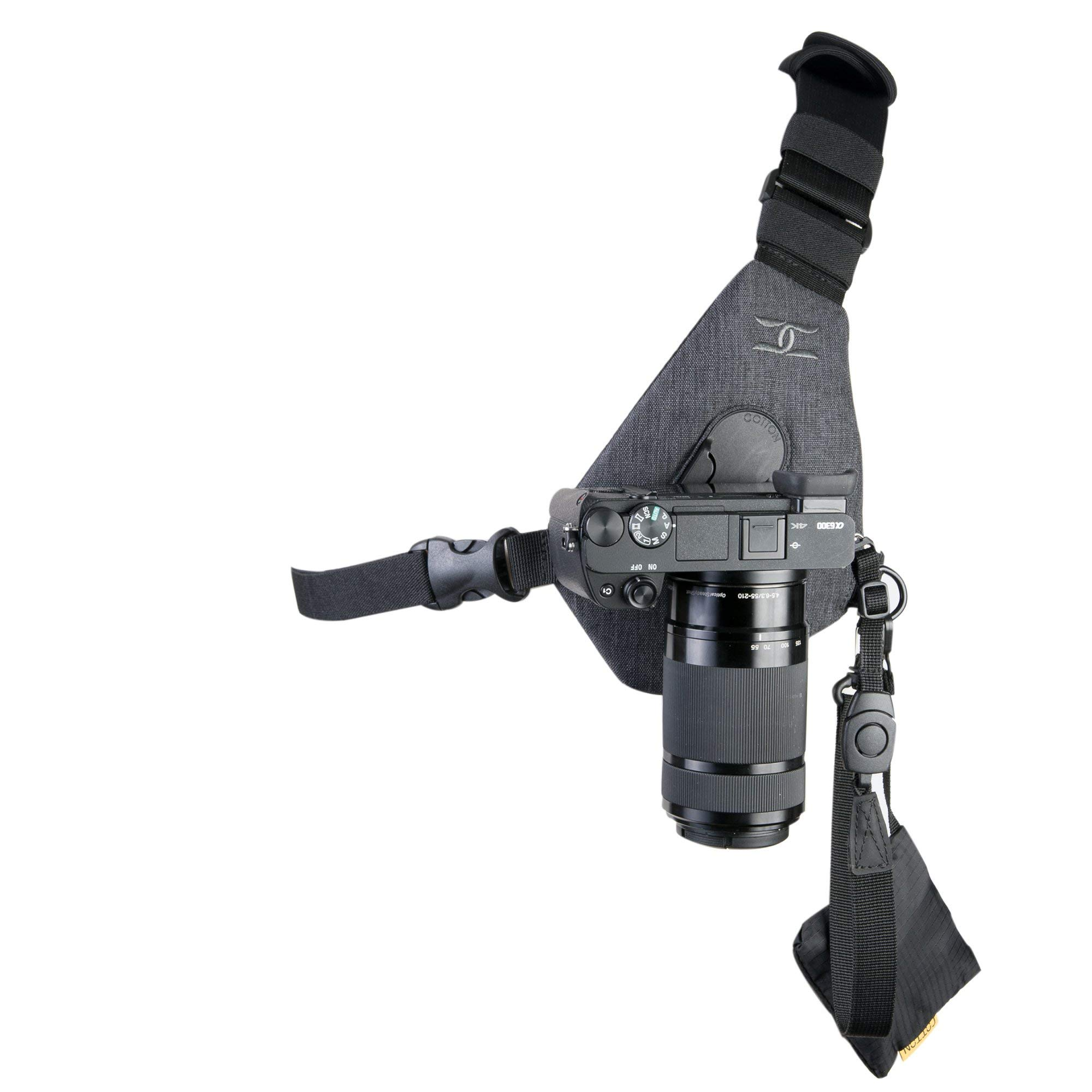 Cotton Carrier Skout Sling Style Harness for One Camera - Grey by Cotton Carrier