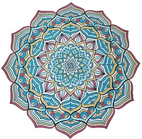 RXRENXIA Impresión En Color De Toalla De Playa Multicolor En Forma De Flor Chal De SPA