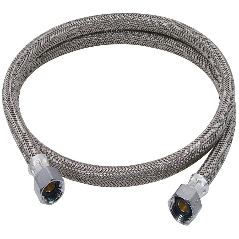 Brasscraft B1-60DW F 3/8-Inch Comp by 3/8-Inch Comp by 60-Inch Dishwasher Connector, White Trumbull Industries