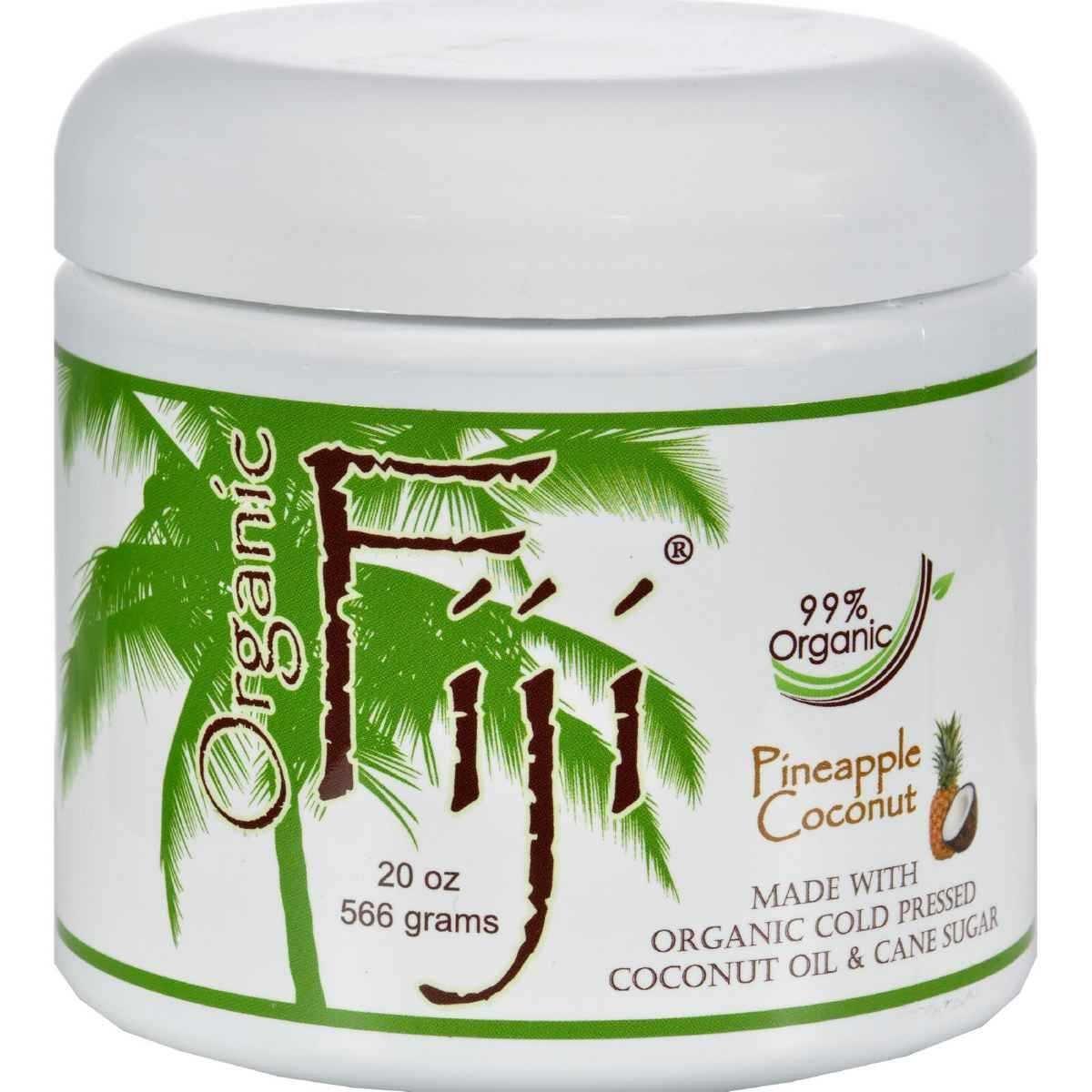 Health Life Organic Fiji Sugar Scrub, Pineapple Coconut, 20-Ounces 088