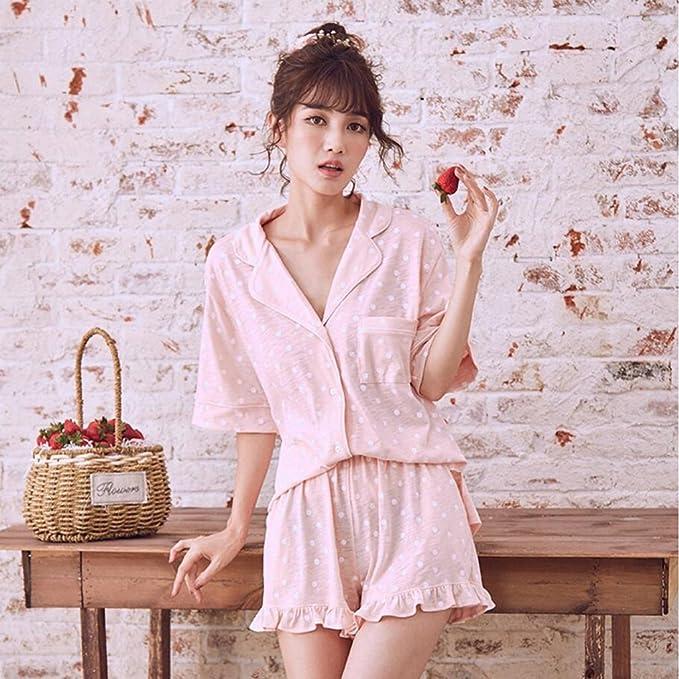 Pijamas de Summer Sweet Cute Cotton Girl dos piezas Ropa interior para el hogar pantalones cortos GAOLILI: Amazon.es: Deportes y aire libre