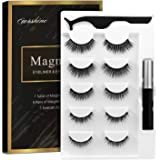 Magnetic Eyelashes Kit With Magnetic Eyeliner 3D Magnetic Eyelashes Magnetic Lashliner For Use with Magnetic False…