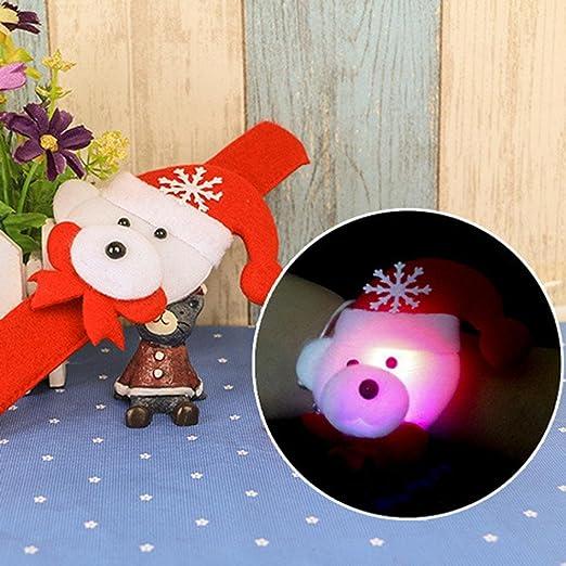 LED Navidad schillernde Pulsera, sansee LED Luz Glow Navidad Slap ...