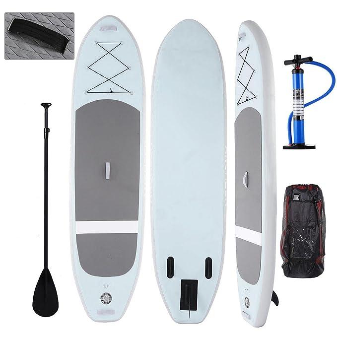 Lonlier Tabla Hinchable Paddle Surf iSUP con Paddle Ajustable, Bomba de Mano 305 x 81