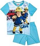 Feuerwehrmann Sam Jungen Shorty-Pyjama - blau