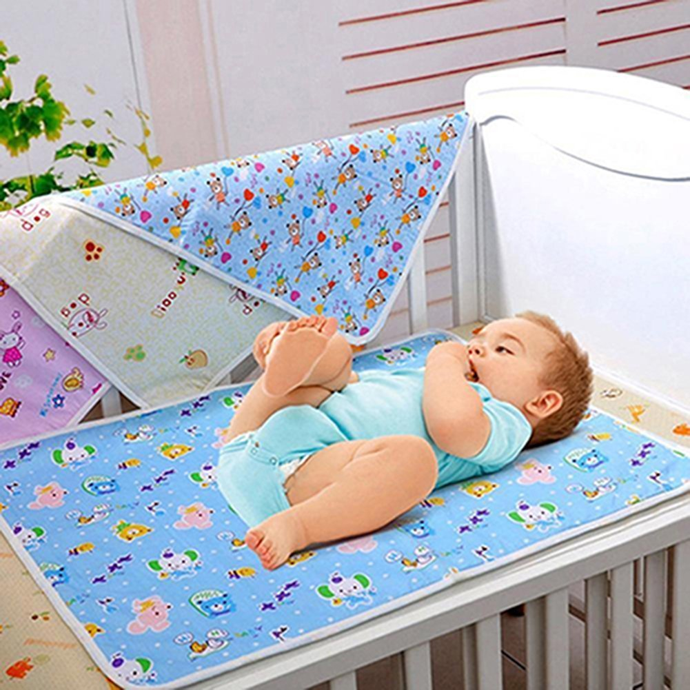 Reusable Baby Infant Diaper Urine Mat Waterproof Sheet Bedding Changing Pad Play Stroller Crib Car Mattress Pad Cover size 40*31