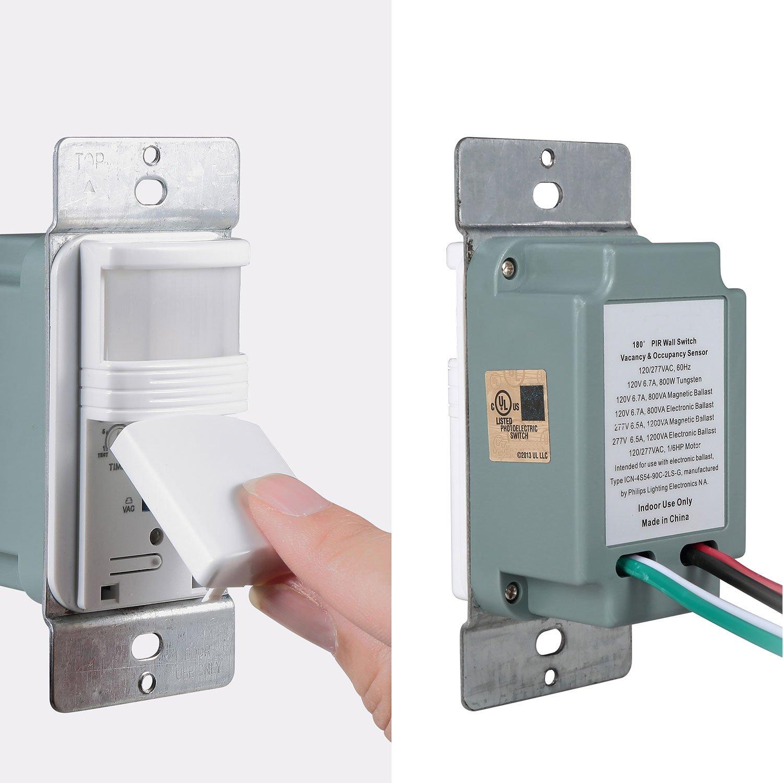 Pack Of 50  White Motion Sensor Light Switch  U2013 Neutral